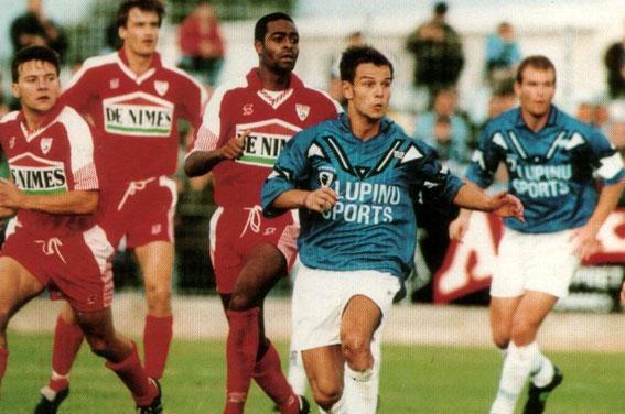 Face à Nimes.Laurent Castro et Laurent Casanova (G.Baldocchi)