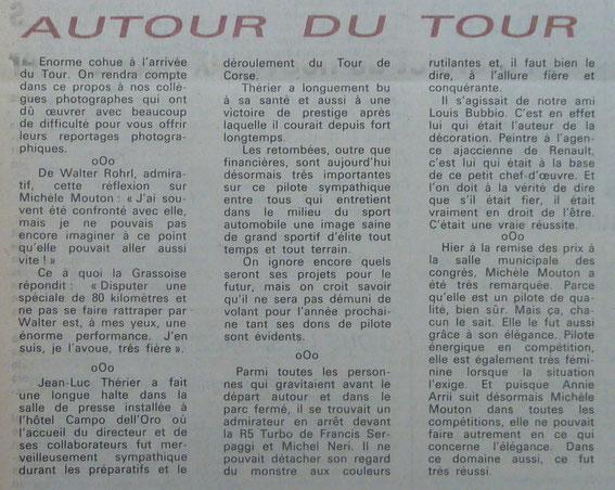 Tous ces articles proviennent du Corse Rallye