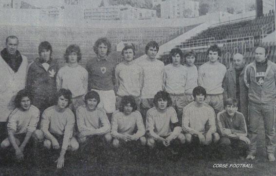 Avec les cadets du SCB à l'extrème droite en haut en 76/77