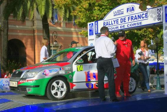 Tour de Corse 2008 avec Olivier Poggi