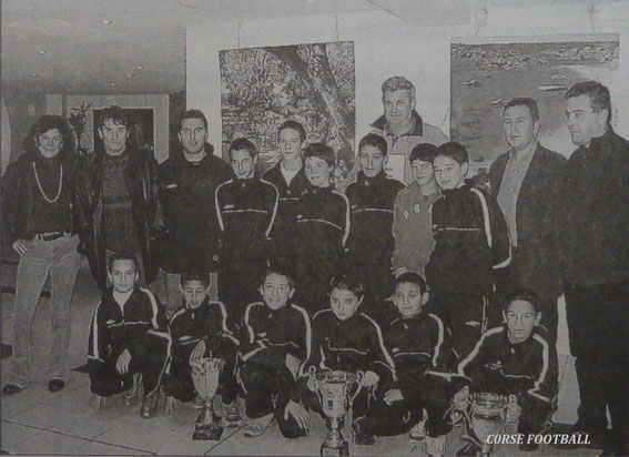 BENJAMINS  Vainqueurs de la Coupe de Corse . (Corse Matin)