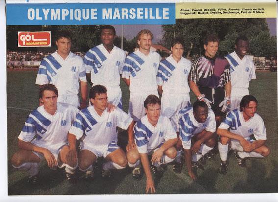SAISON 91/92  Bernard CASONI (SC BASTIA) 1 er debout  Pascal OLMETA (SC BASTIA et GFCA) 5 ème debout  Jean-Jacques EYDELIE (SC BASTIA) 2 ème accroupis