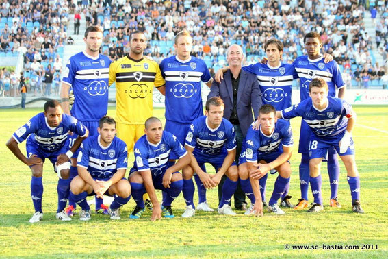 Debout: Sans-Novaes-Suarez-Mr Luiggi (PDG Oscaro)-Harek-Diallo  Accroupis: Moizini-Cioni-Khazri-Rothen-Choplin et Cahuzac