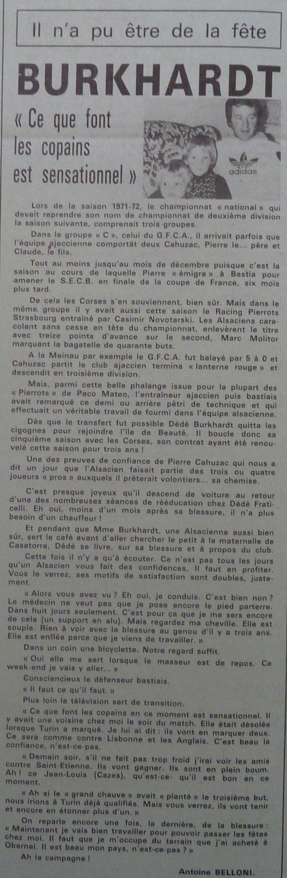 """Tous les documents """"non identifiés"""" proviennent du Corse Matin"""