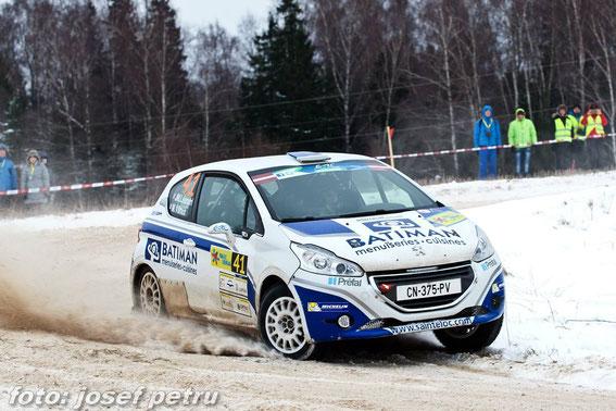 Rally Liepajà en 2014 avec Maxime VILMOT