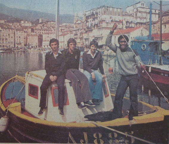 Jean Marie DE ZERBI, Pierrick HIARD, Paul MARCHIONI et Pierre AUSSU