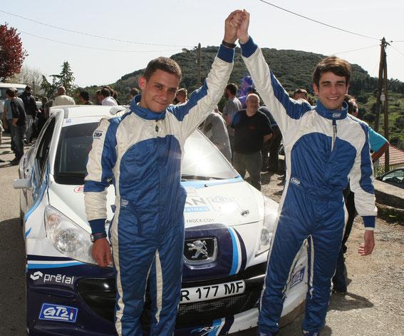 Victoire à PILA CANALE en 2011 avec Pierre Marien LEONARDI pour la 1 ère victoire.