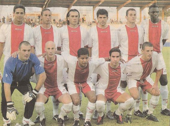 Monaco Amical .Debout:A.Luiz,Terrier,Edson,Chapuis,Rodrigo,Seck,Accroupis :Trev,Col,Marcelinho,Laurenti,Connen