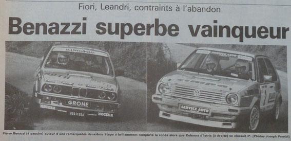 Guy FIORI en fait à gauche et pas P.Benazzi .