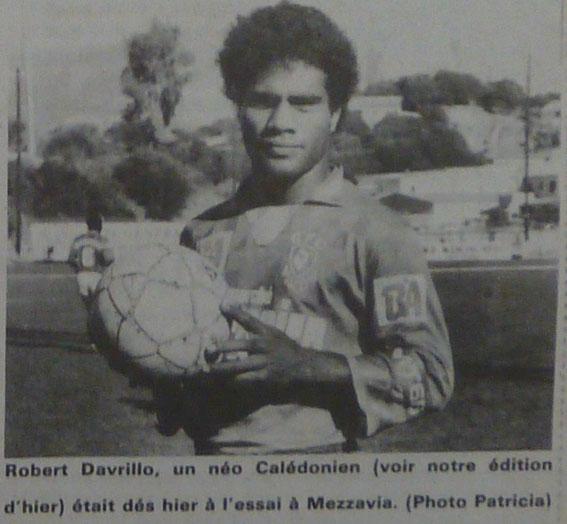 Robert à son arrivée en Corse (Saison 88/89)
