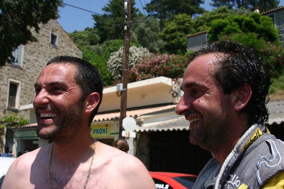 Jean Michel était fidèle en amitié , ci dessus avec Titi Muselli