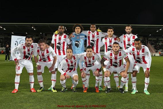 L'équipe alignée face à Sochaux
