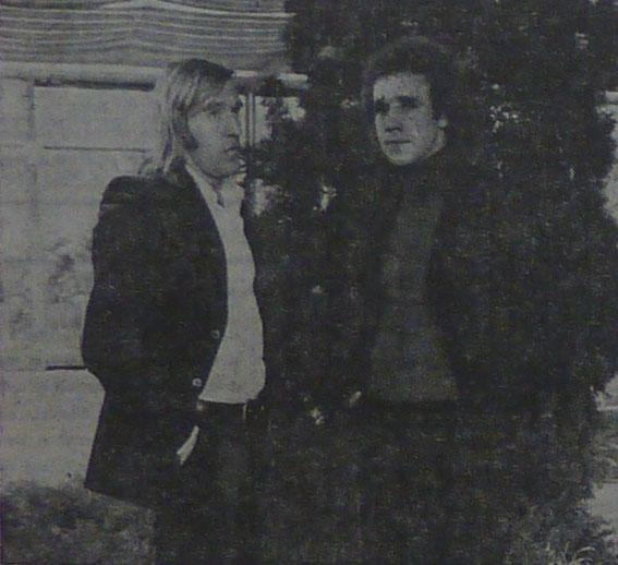 Avec Gunther NETZER lors du jubilé de Josip SKOBLAR