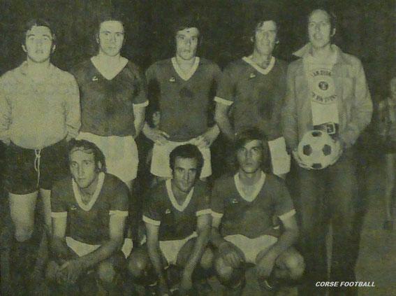 Sixte PIgalle 72. DAF France .Debout : Caselli, Vincenti, Pietri, Mattei, Battesti Accroupis  : Valéry, Camadini, Lezec