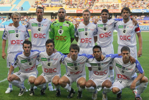 A Troyes  Debout: Genest-Cherrad-Novaes-Maire-Ben Zekri-André  Accroupis: Martinetti-Dunjic-Cahuzac-Barthelemy-Ghisolfi  (Photo: J.Negroni)