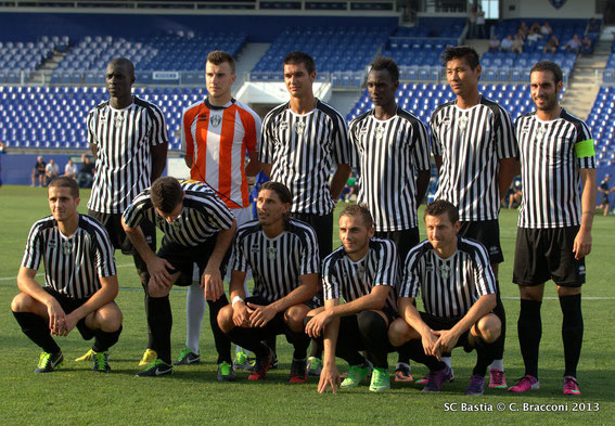 Face au SC Bastia en Amical (Photo SCB)