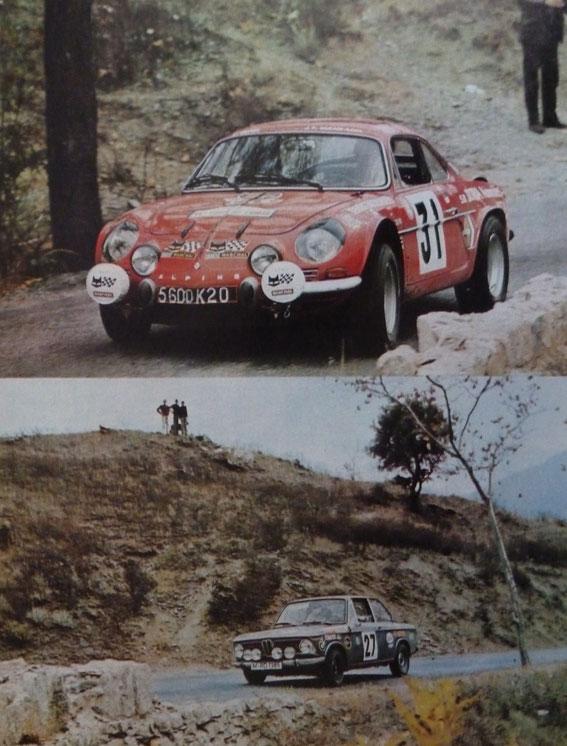 Jean Pierre MANZAGOL (Alpine) et Pierre MAUBLANC (BMW)