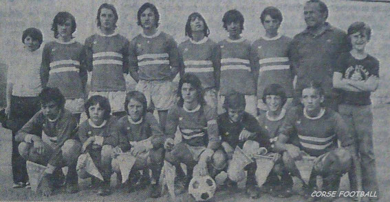 Avec les pupilles et minimes du Sporting en 73/74 .