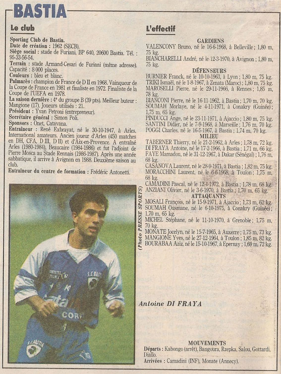 Document France Football ( A noter que Monate n'a jamais signé au Sporting)