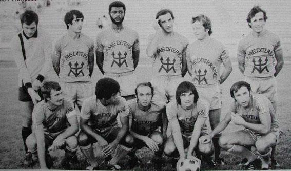 Saison 76/77 à Montpellier face à Bruges