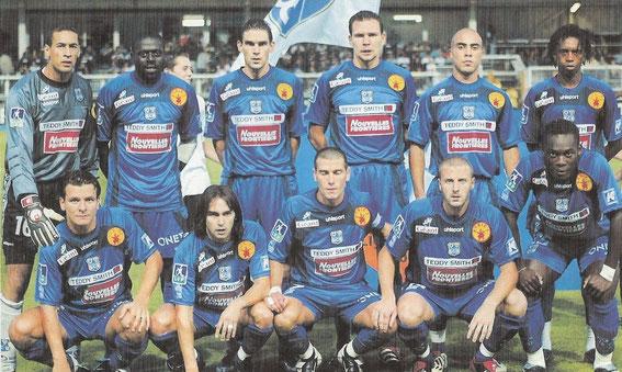 A Furiani, face à, Rennes  Debout: Boumnijel-Mendy-Gourvennec-Uras-Ahamada-M.Soumah  Accroupis: Ferreira-Pedros-Jeunechamp-Maurice-Essien