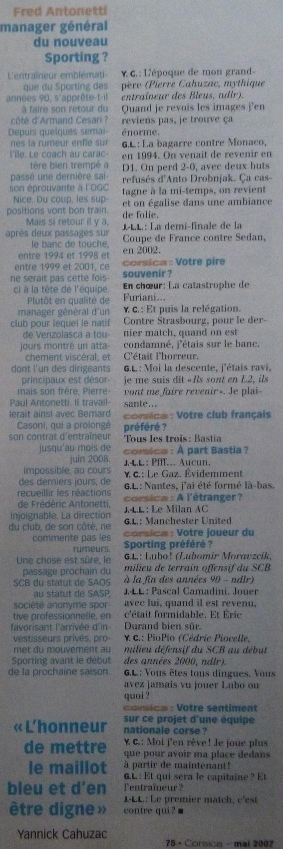 Magazine Corsica Mai 2007