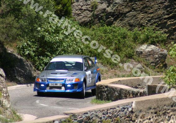 BIGUGLIA 2007 avec la Lancer Evo V toujours au volant .