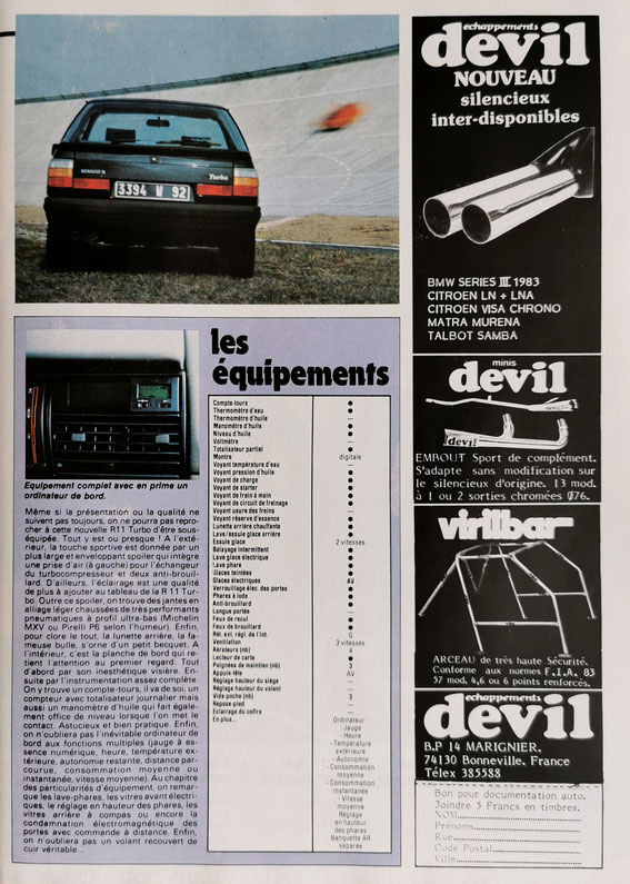Echappement Avril 1984