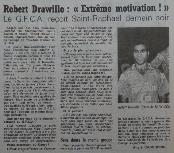 Corse Matin saison 89/90
