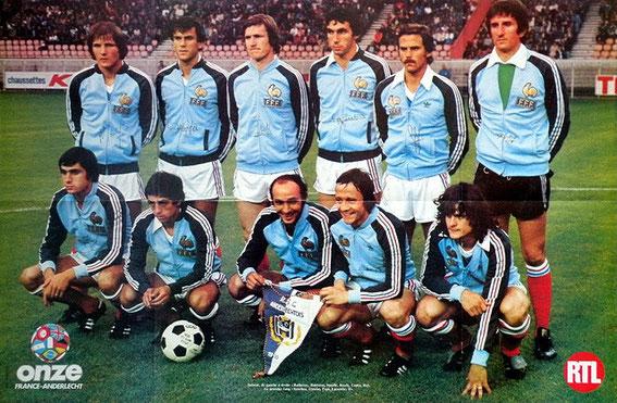 Avec l'équipe de France contre Anderlecht