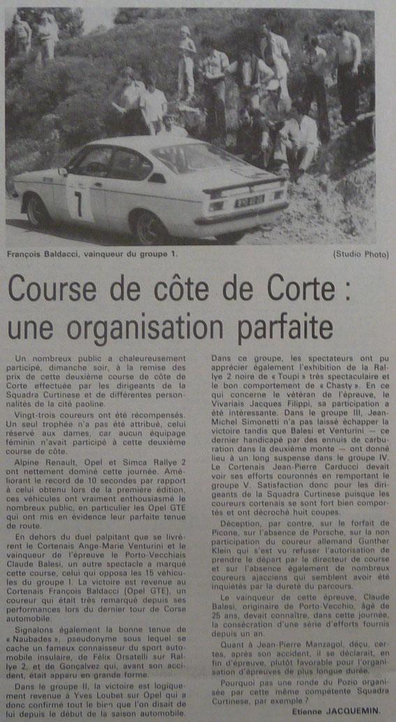 Tous les articles qui précèdent sont issus du Corse Matin