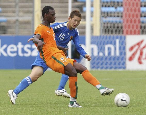 Sous les couleurs de la sélection Olympique Ivoirienne.