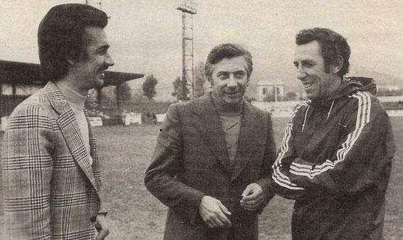 Paul Natali au centre en compagnie de Jules Filippi et Pierre Cahuzac