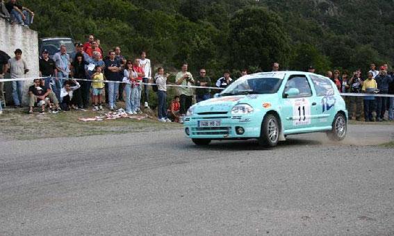 Corte 2005 avec Pierre Marc Nannucci (Photo Rallye Corse)