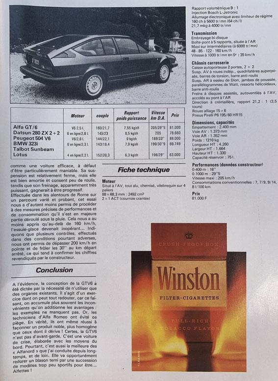 SPORT AUTO 1981