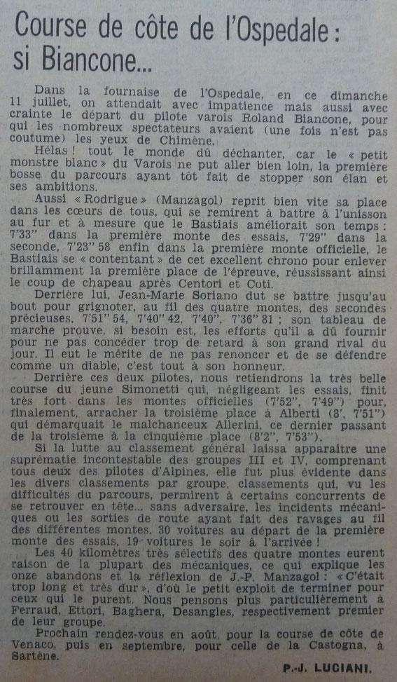 Tous ces documents proviennent des Archives Corse Matin