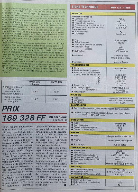 SPORT AUTO Septembre 87
