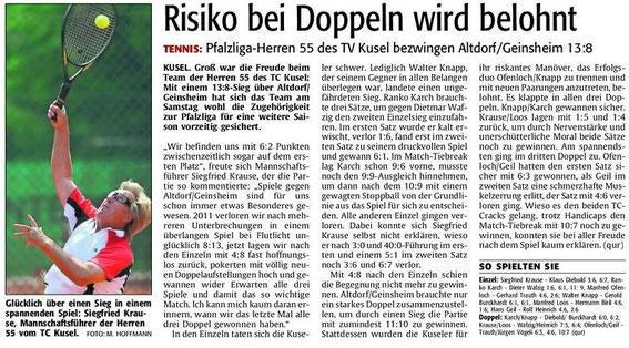 Quelle: Verlag: DIE RHEINPFALZ Publikation: Westricher Rundschau Ausgabe: Nr.129 Datum: Dienstag, den 05. Juni 2012 Seite: Nr.14