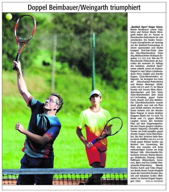 Quelle: Verlag: DIE RHEINPFALZ Publikation: Westricher Rundschau Ausgabe: Nr.200 Datum: Dienstag, den 28. August 2012 Seite: Nr.12