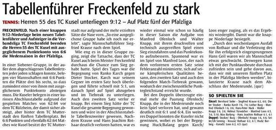 Quelle: Verlag: DIE RHEINPFALZ Publikation: Westricher Rundschau Ausgabe: Nr.145 Datum: Montag, den 25. Juni 2012 Seite: Nr.15