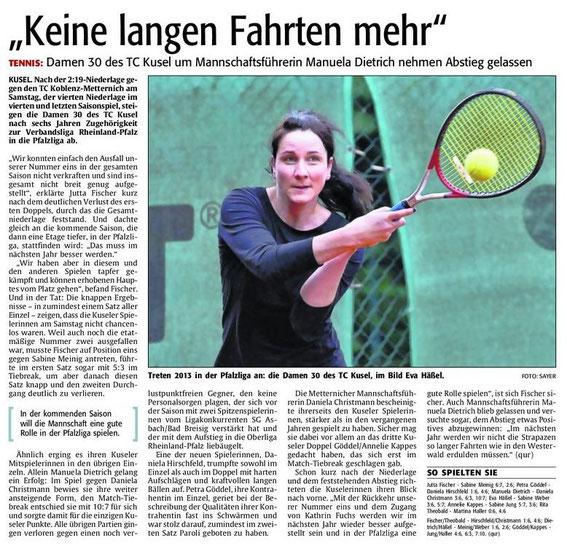 Quelle: Verlag: DIE RHEINPFALZ Publikation: Westricher Rundschau Ausgabe: Nr.139 Datum: Montag, den 18. Juni 2012 Seite: Nr.15