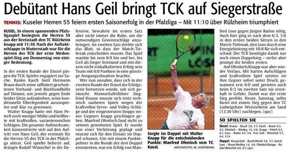 Quelle: Verlag: DIE RHEINPFALZ Publikation: Westricher Rundschau Ausgabe: Nr.116 Datum: Samstag, den 19. Mai 2012 Seite: Nr.18