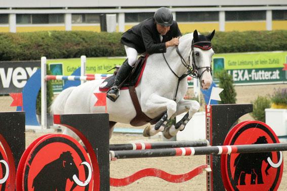 Helmut Morbitzer und Quincy-Star stellen sich der internationalen Konkurrenz © Linzer Pferdefestival