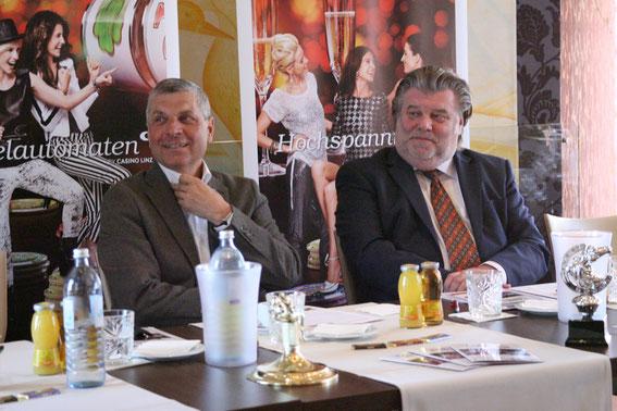 Helmut Morbitzer und Gerhard Pischölger (Springreferent d. Oberösterreichischen Pferdesportverbands OOEPS) © Linzer Pferdefestival