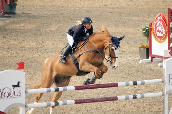 Titelverteidigerin Astrid Kneifel (OÖ) und Duc de Revel © Linzer Pferdefestival