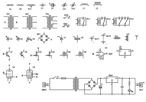 Simbologia Schemi Elettrici Industriali : Simboli per disegno schemi benvenuti su officinahf