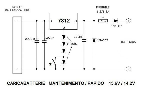 Schema Elettrico Per Caricabatterie 12 Volt : Carica batterie benvenuti su officinahf