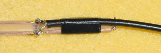 Il collegamento del cavo coassiale RG-178, qui 240-Ohm-TV-wire