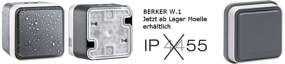 Berker W.1 Das sportlichste Schalterprogramm für Wind und Wetter