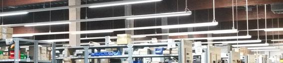 LED Hallenbeleuchtung Lichtbänder